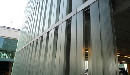 Engineering Facade. Project development. Laminated facade