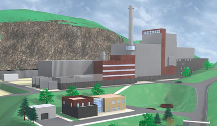 Industrial Plants. Incinerator plant