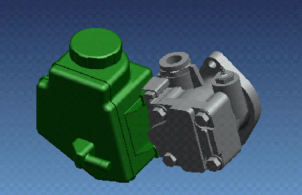 Automotive mechanical design - Injection pump oil tank